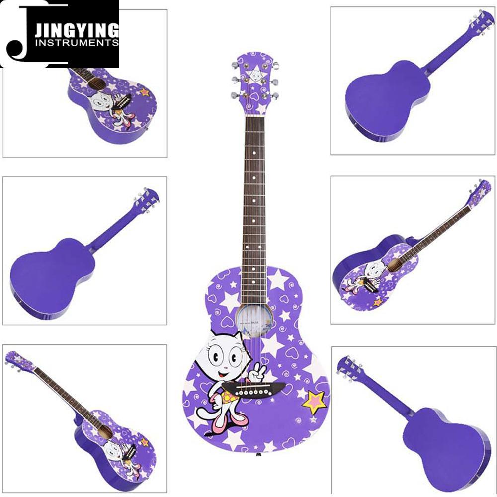 36 Inch Cartoon Angel Series Acoustic Guitars 6