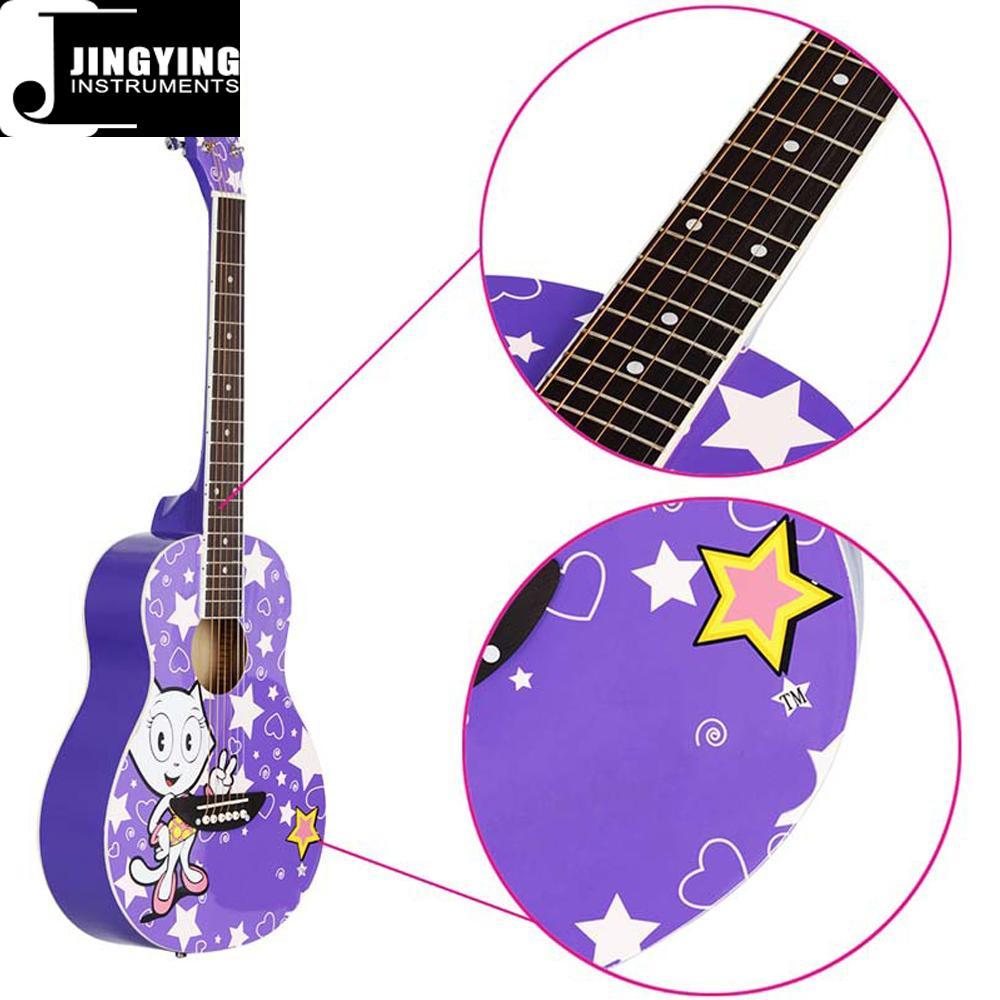 36 Inch Cartoon Angel Series Acoustic Guitars 8