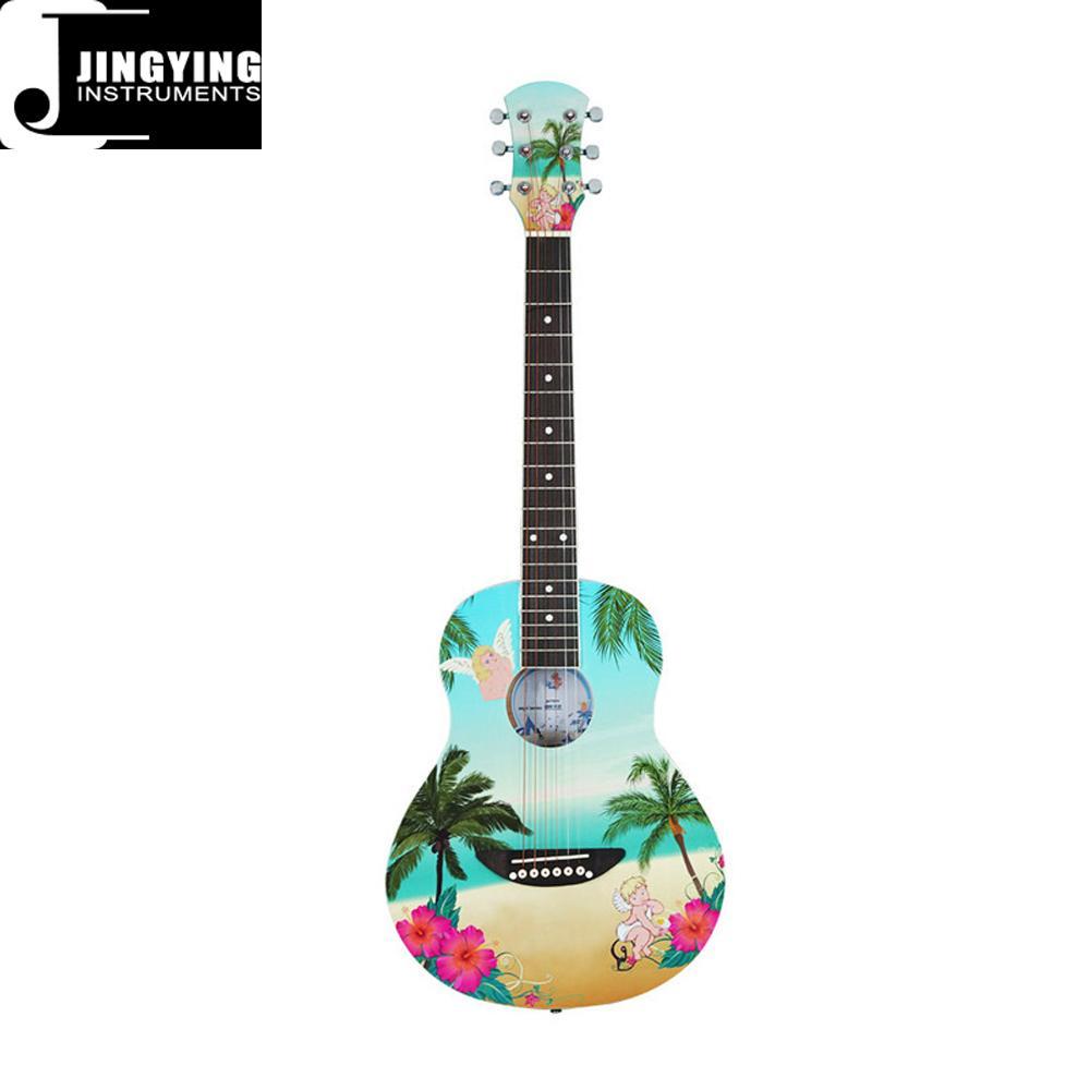 36 Inch Cartoon Angel Series Acoustic Guitars 1