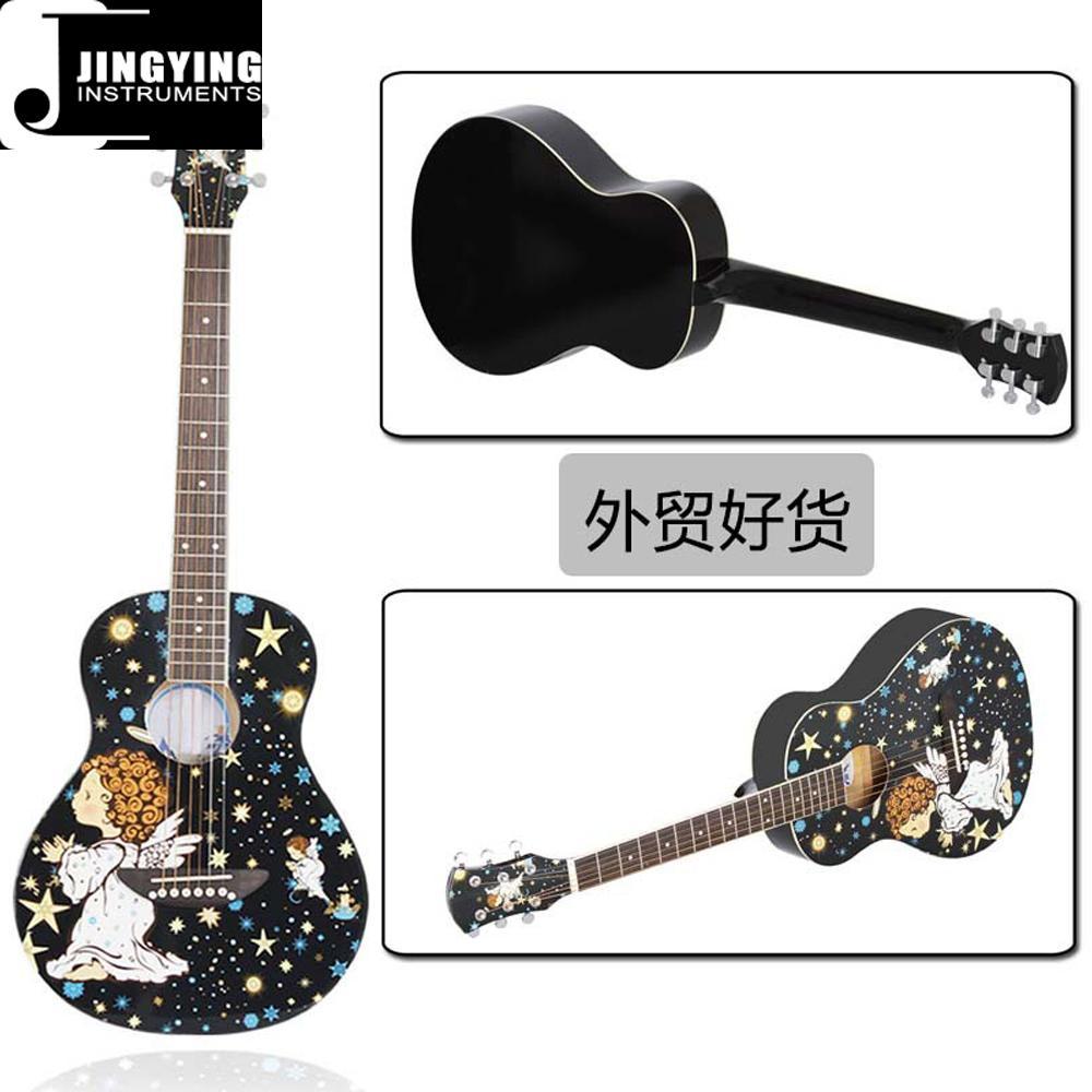 36 Inch Cartoon Angel Series Acoustic Guitars 2