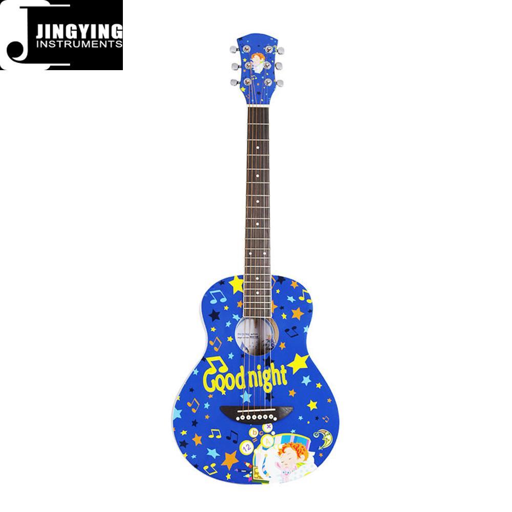 36 Inch Cartoon Angel Series Acoustic Guitars 9