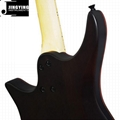 Wholesale High Quality Mahogany with Flamed Maple Veneer Top Headless Guitars