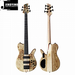 High Quality Factory Direct Sale 5 Strings Ash Body Butterfly Bass Guitars