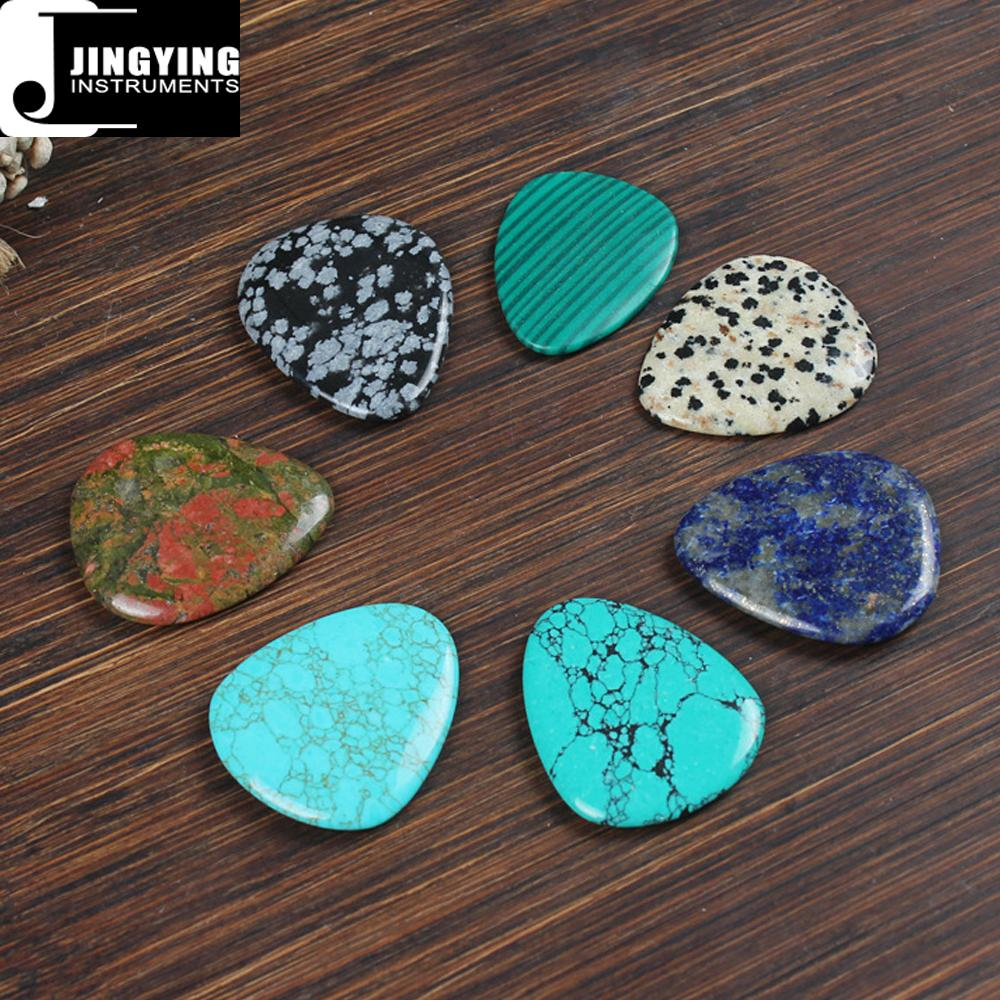 Wholesale China Made Natural Colored Gemstone Series Gift Guitar/Ukulele Picks