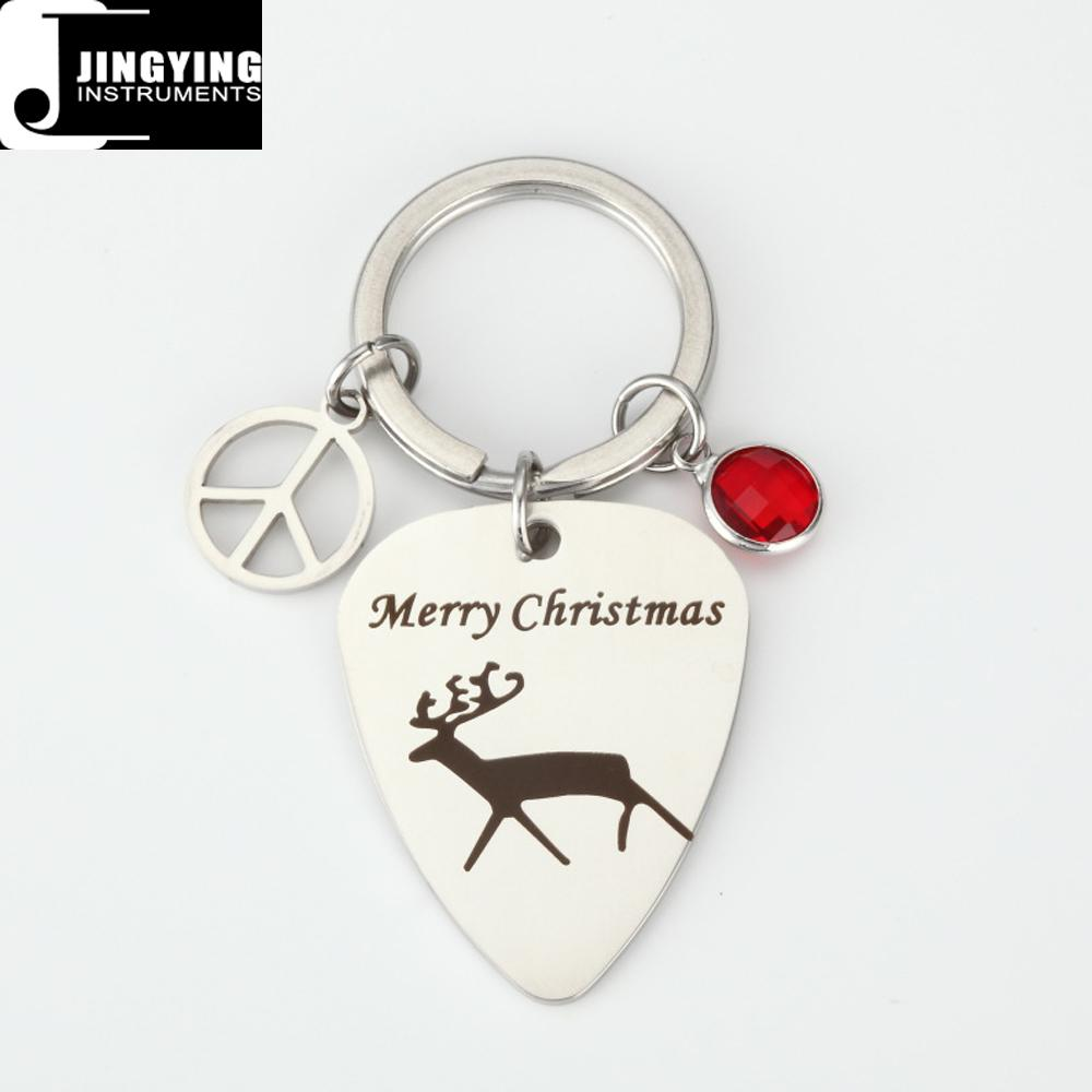 Wholesale China Made Diy Stainless Steel Merry Christmas Gift Guitar Picks
