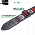 1.5M Length Thermal Transfer Pattern Thickened Leather Heads Folk Guitar Straps 5