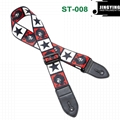 1.5M Length Thermal Transfer Pattern Thickened Leather Heads Folk Guitar Straps 11
