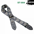 1.5M Length Thermal Transfer Pattern Thickened Leather Heads Folk Guitar Straps 7