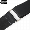 1.2mm Thick Polyester Safety Webbing Genuine Leather Head Guitar Straps