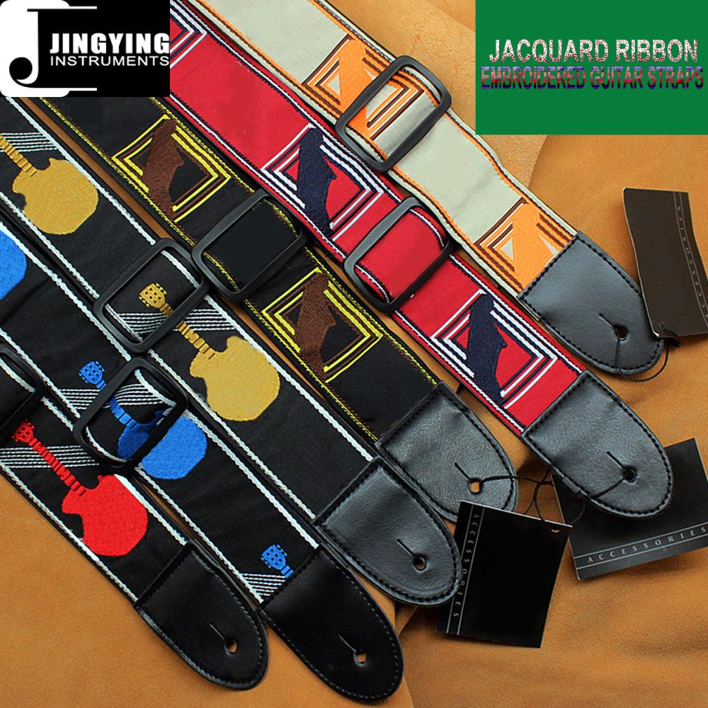 Fender Style 137X5CM Jacquard Ribbon Embroidered Guitar Straps 1