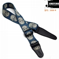 150X5CM Thermal Transfer All Kinds of Skulls Bass Electric Guitar Straps