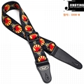 150X5CM Thermal Transfer All Kinds of Skulls Bass Electric Guitar Straps 7