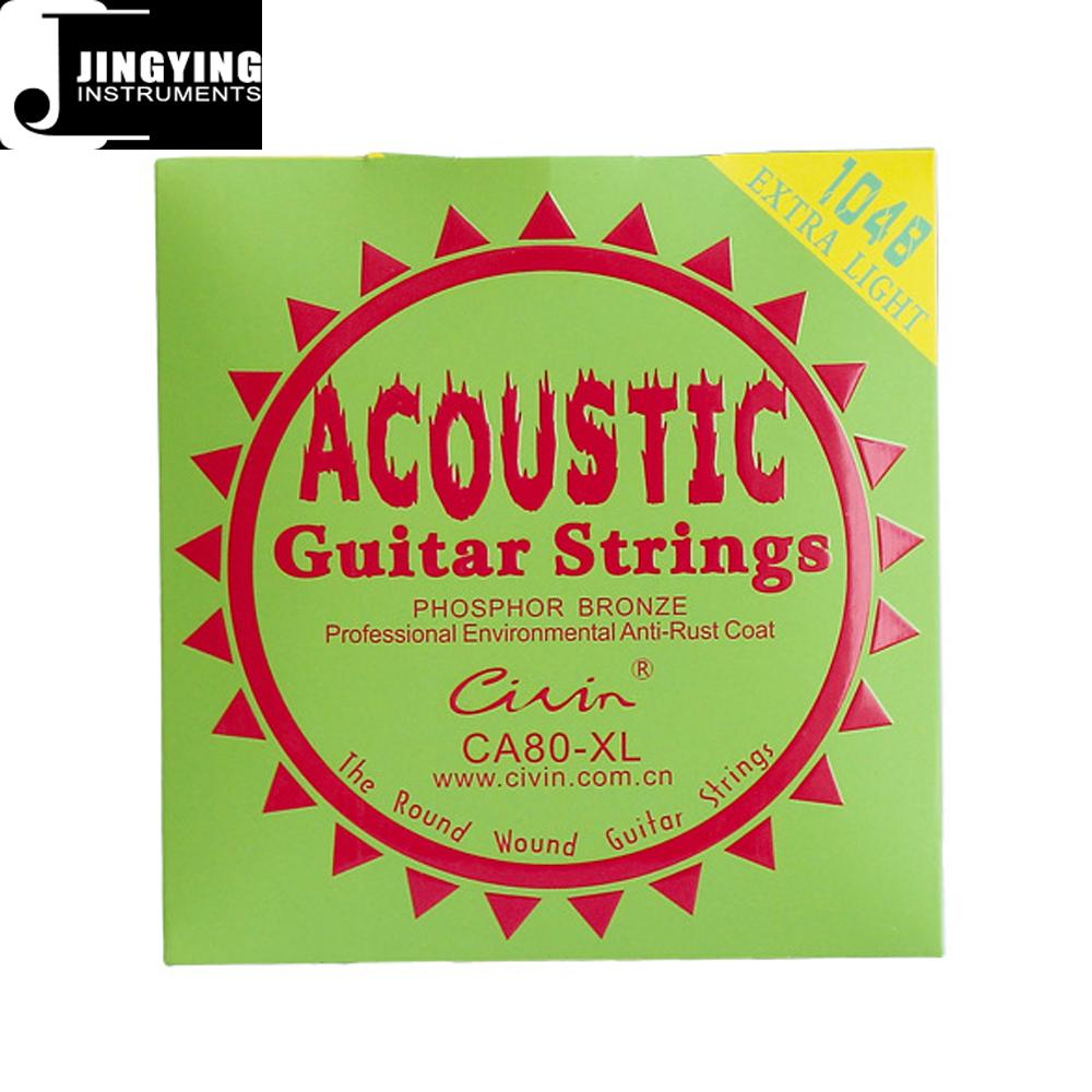 Inner Hexagon Steel Core 80/20 Phosphor Bronze Wound Acoustic Guitar Strings 5
