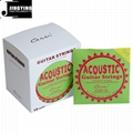 Inner Hexagon Steel Core 80/20 Phosphor Bronze Wound Acoustic Guitar Strings 7