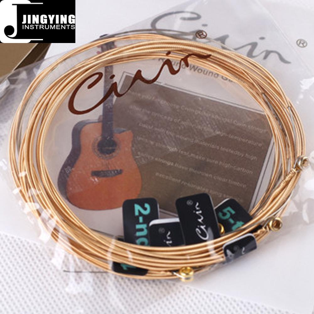 High-carbon Steel String and 90/10 Brass Wound String Acoustic Guitar Strings 1