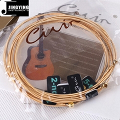 High-carbon Steel String and 90/10 Brass Wound String Acoustic Guitar Strings