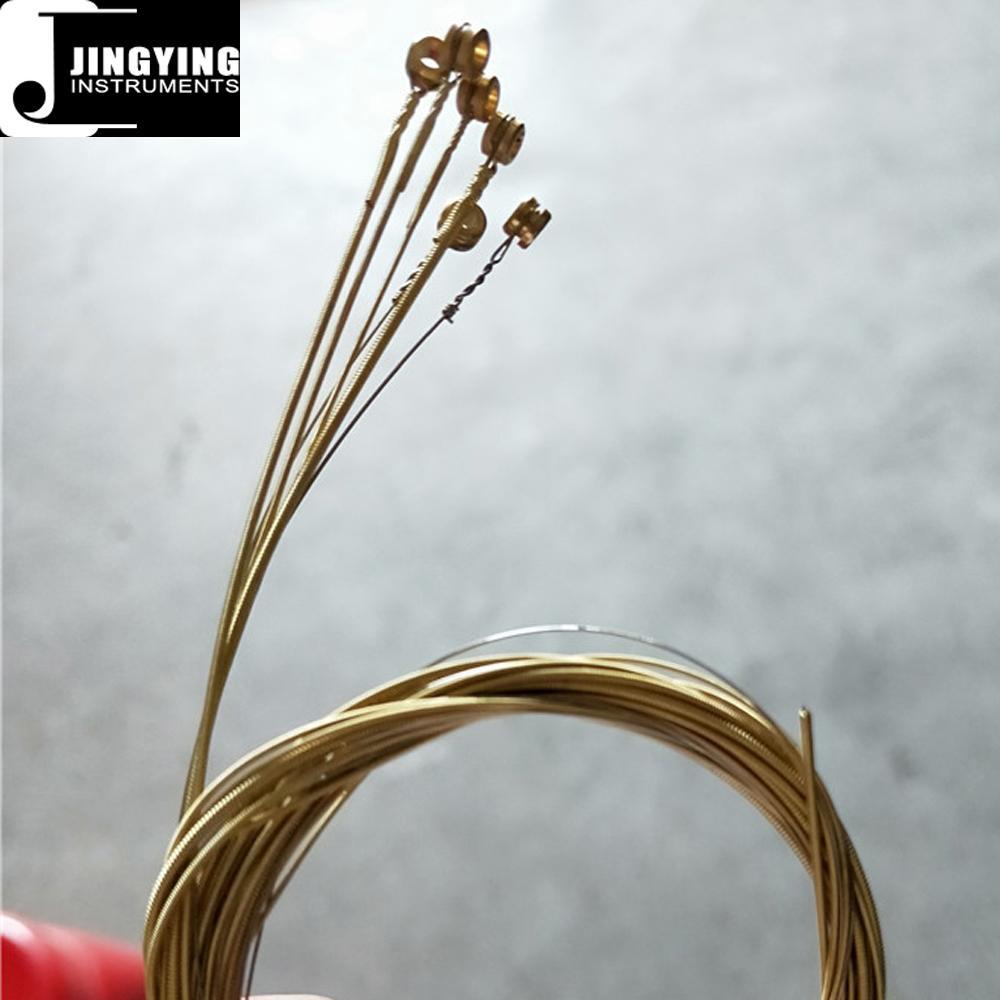 Wholesale Steel Material Colorful Loose Acoustic Guitar Strings 4