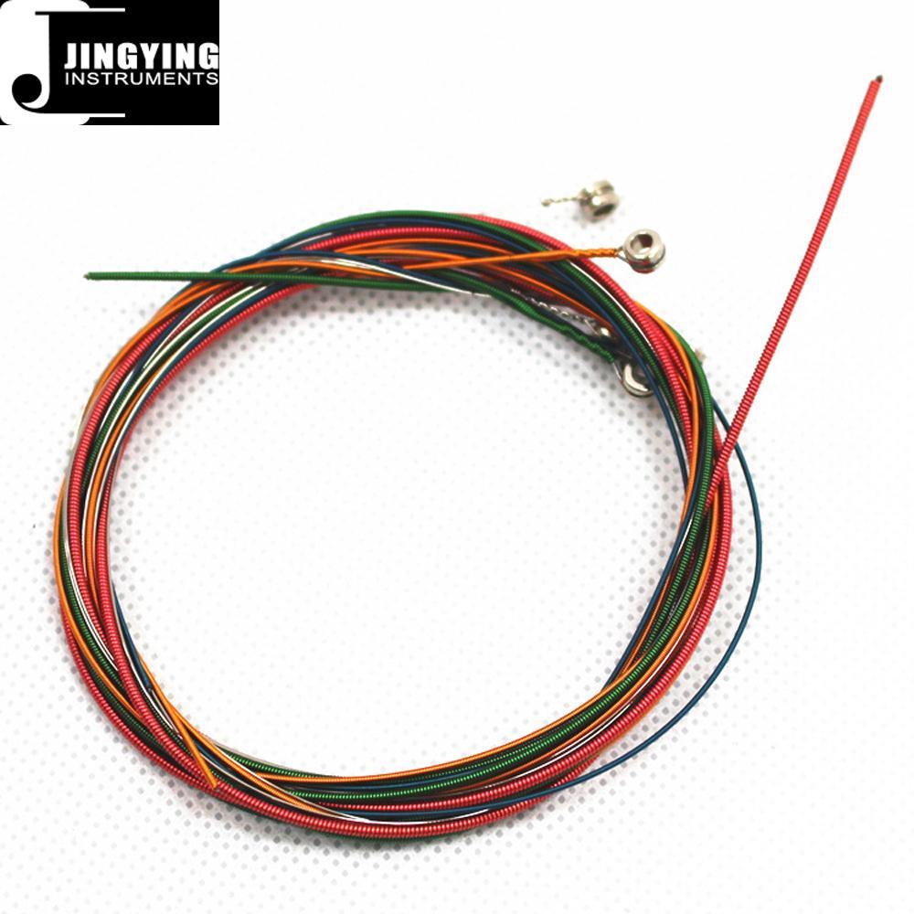 Wholesale Steel Material Colorful Loose Acoustic Guitar Strings 3
