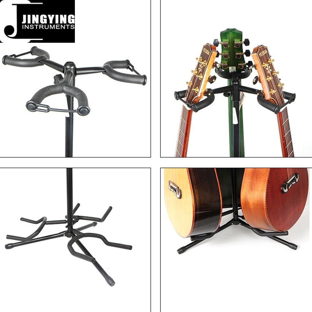 Wholesale Vertical 3 Heads Classic&Acoustic&Electric Guitar Stands 5