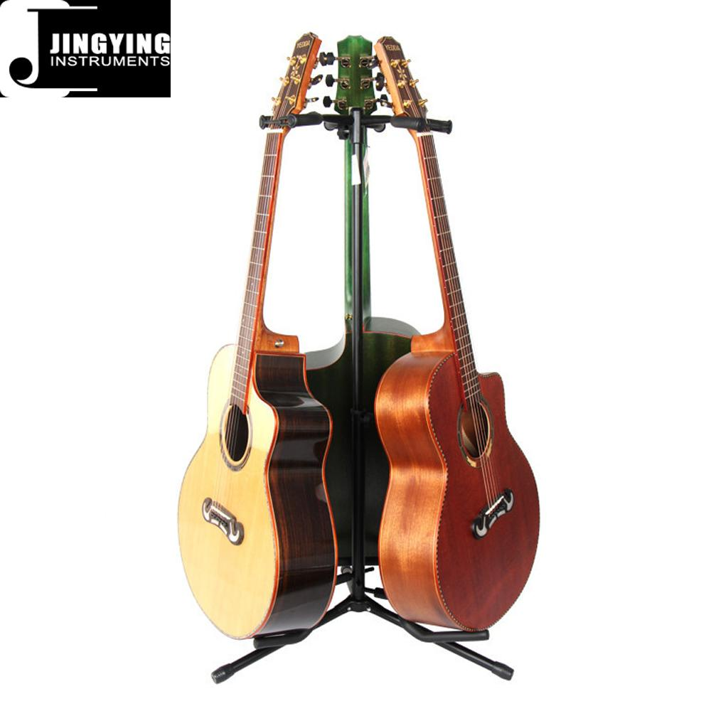 Wholesale Vertical 3 Heads Classic&Acoustic&Electric Guitar Stands 1