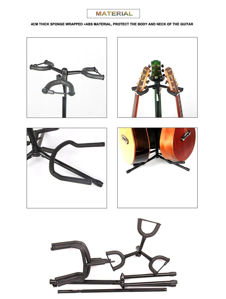 Wholesale Vertical 3 Heads Classic&Acoustic&Electric Guitar Stands 4