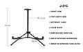 Wholesale Small Vertical Folding Guitar&Ukulele Stands 4