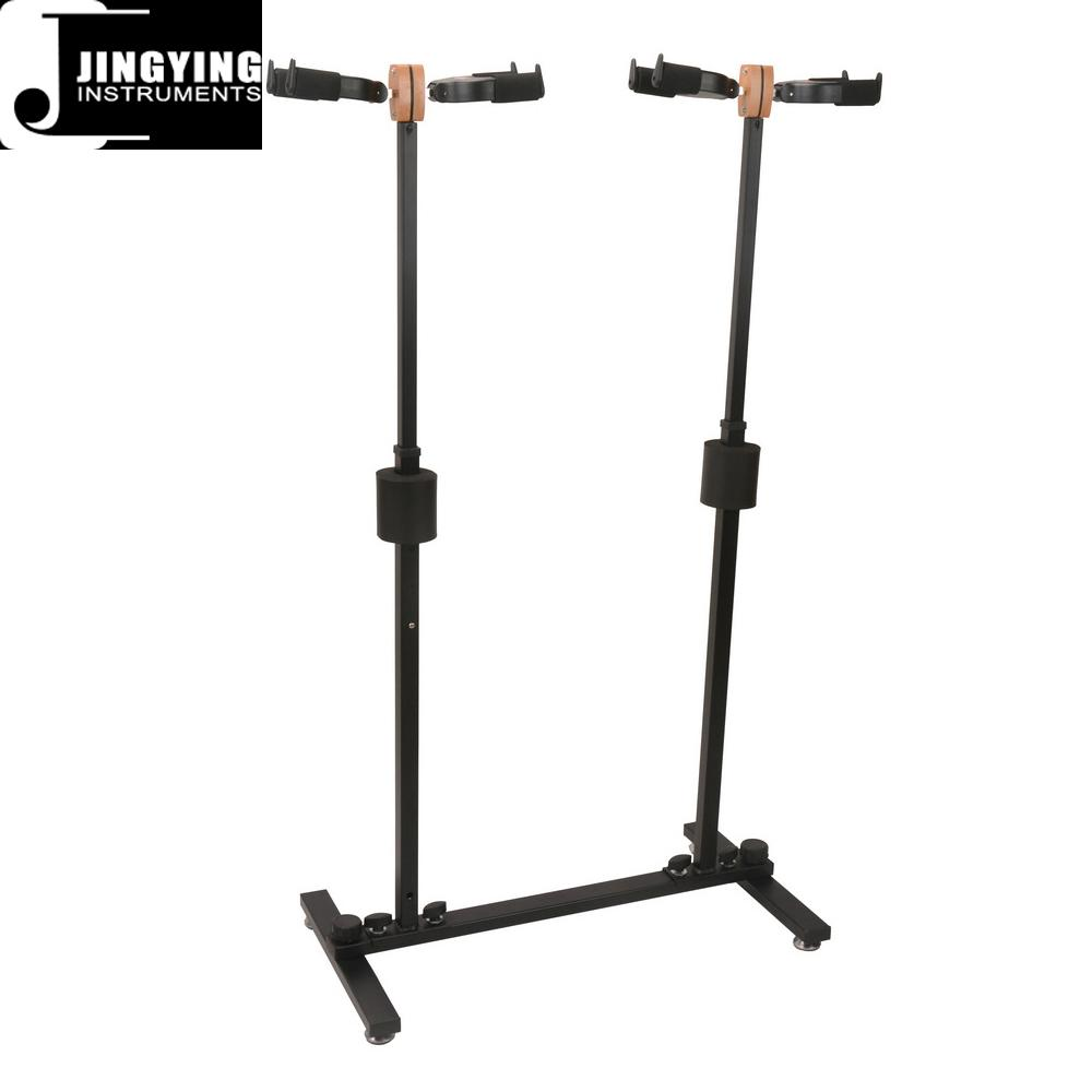 Wholesale Folding Vertical Four Heads Gravity Self-locking Guitar Stands