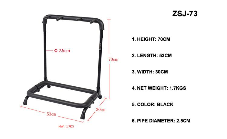Wholesale Multi-head(3/5/7/9 Heads)Acoustic&Classic&Electric Guitar Display Rack 2