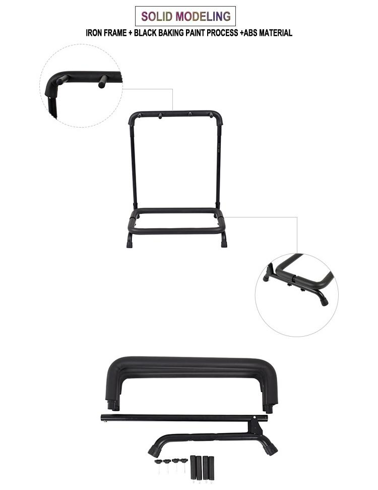 Wholesale Multi-head(3/5/7/9 Heads)Acoustic&Classic&Electric Guitar Display Rack 4