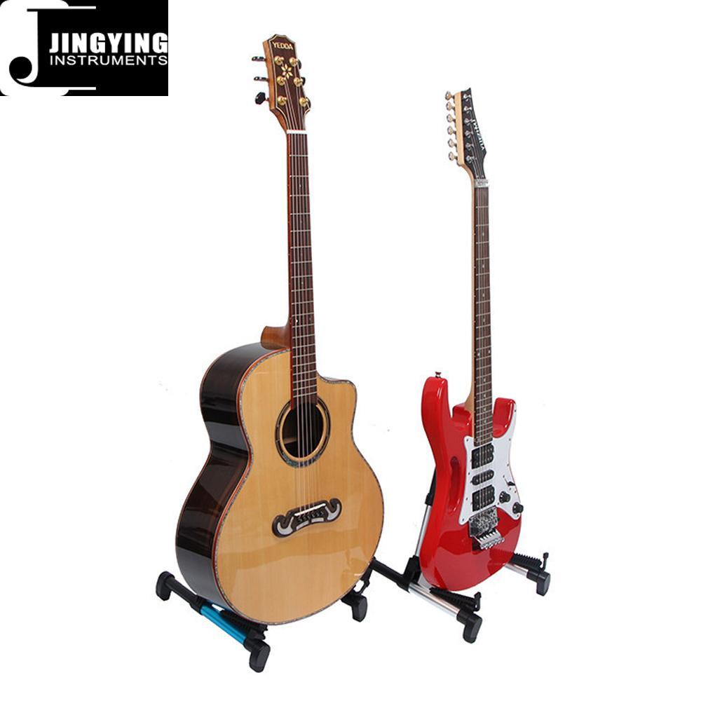 Wholesale Aluminum Alloy Material Vertical Folding Guitar Stands 2