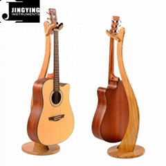 Wholesale Bamboo Material Hanging Guitar Stands