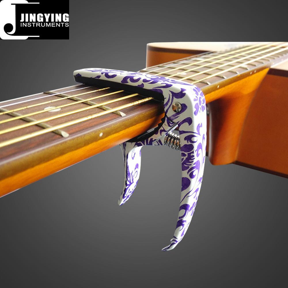Wholesale High Grade Camouflage Color&Blue and White Porcelain Color Guitar Capo 4