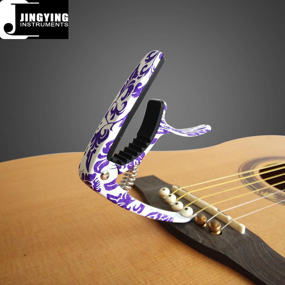 Wholesale High Grade Camouflage Color&Blue and White Porcelain Color Guitar Capo 5