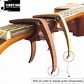 Wholesale Wood Grain Color Zinc Alloy Acoustic Guitar Capo 6