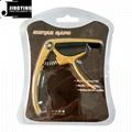 Wholesale Wood Grain Color Zinc Alloy Acoustic Guitar Capo 12