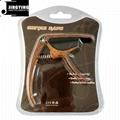 Wholesale Wood Grain Color Zinc Alloy Acoustic Guitar Capo 11