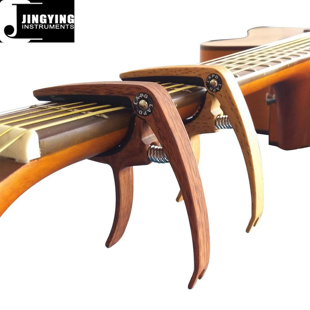 Wholesale Wood Grain Color Zinc Alloy Acoustic Guitar Capo 5