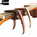 Wholesale Wood Grain Color Zinc Alloy Acoustic Guitar Capo