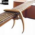 Wholesale Wood Grain Color Zinc Alloy Acoustic Guitar Capo 8
