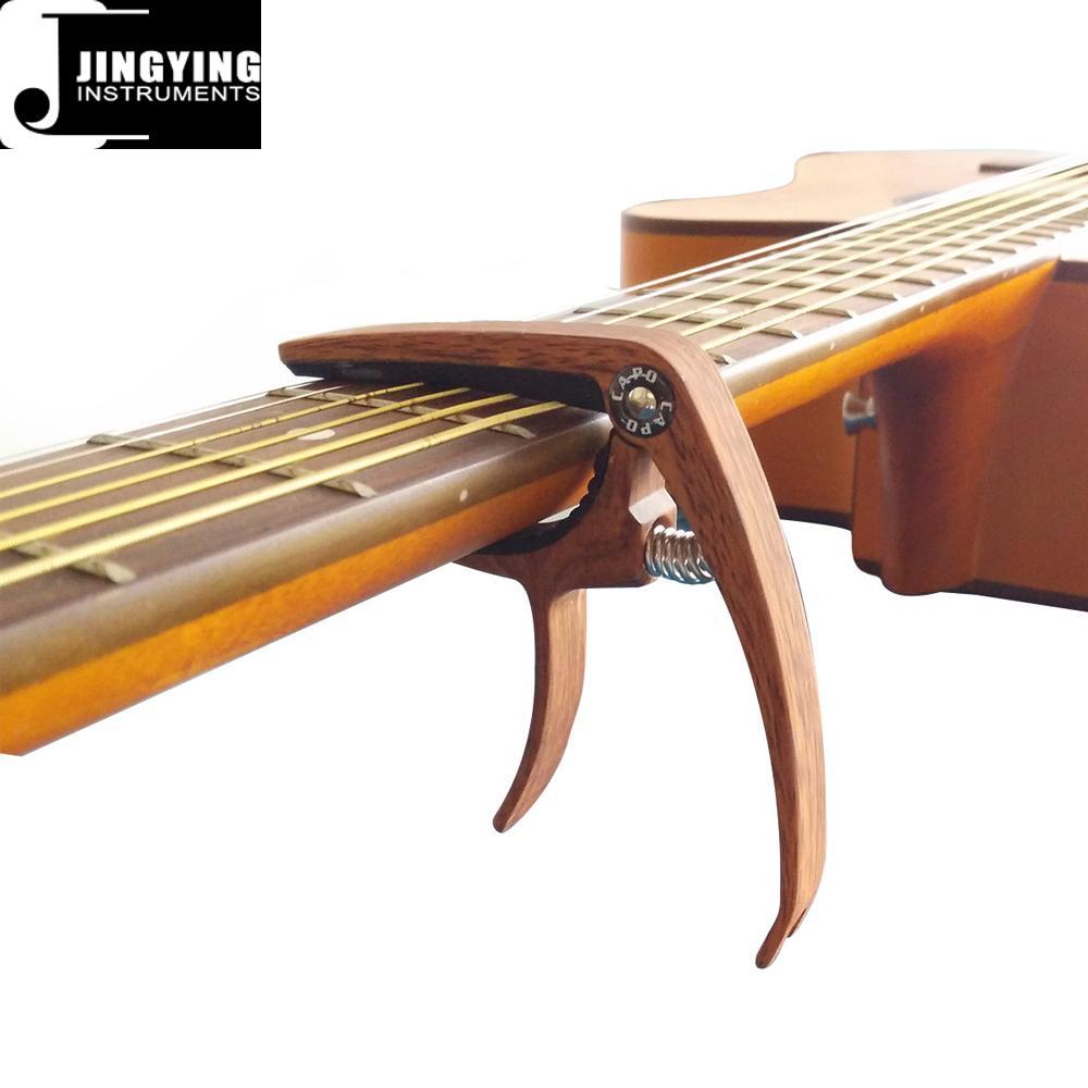 Wholesale Wood Grain Color Zinc Alloy Acoustic Guitar Capo 7