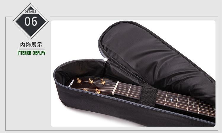 Wholesale 41 Inches Advanced 600D Oxford Cloth 10mm Sponge Acoustic Guitar Bags 11