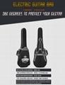 Wholesale 600D Oxford Cloth 10mm Sponge Two Shoulders Electric Guitar Bags 4