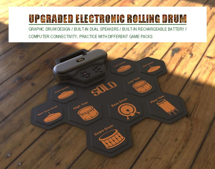 Silica Gel Material Upgraded Electronic Drums with Two Speakers 1
