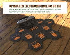 Silica Gel Material Upgraded Electronic Drums with Two Speakers