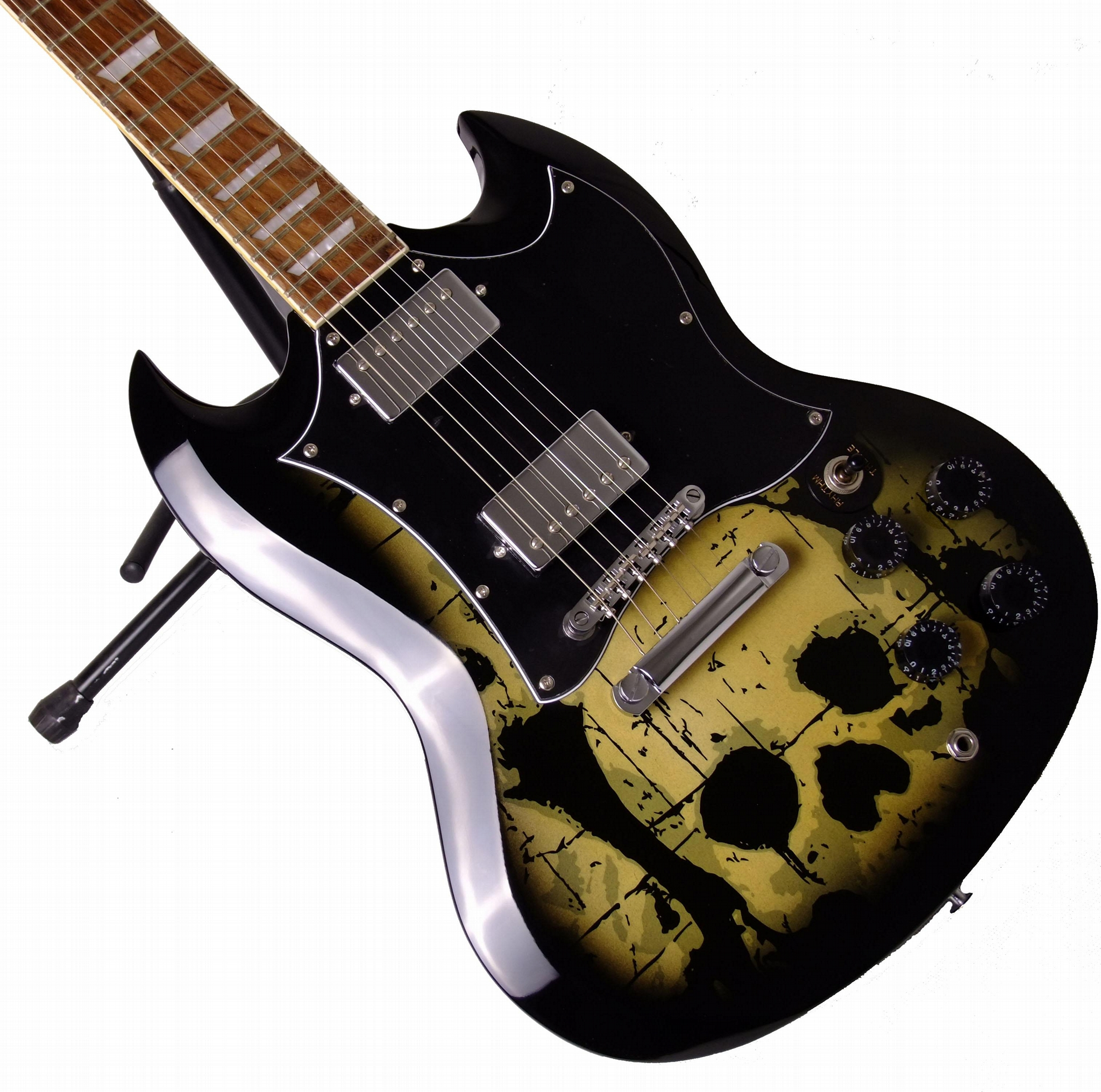 2020 Jingying Music SG Type Camouflage or Skulls Pattern Electric Guitars 1
