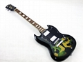2020 Jingying Music SG Type Camouflage or Skulls Pattern Electric Guitars 7