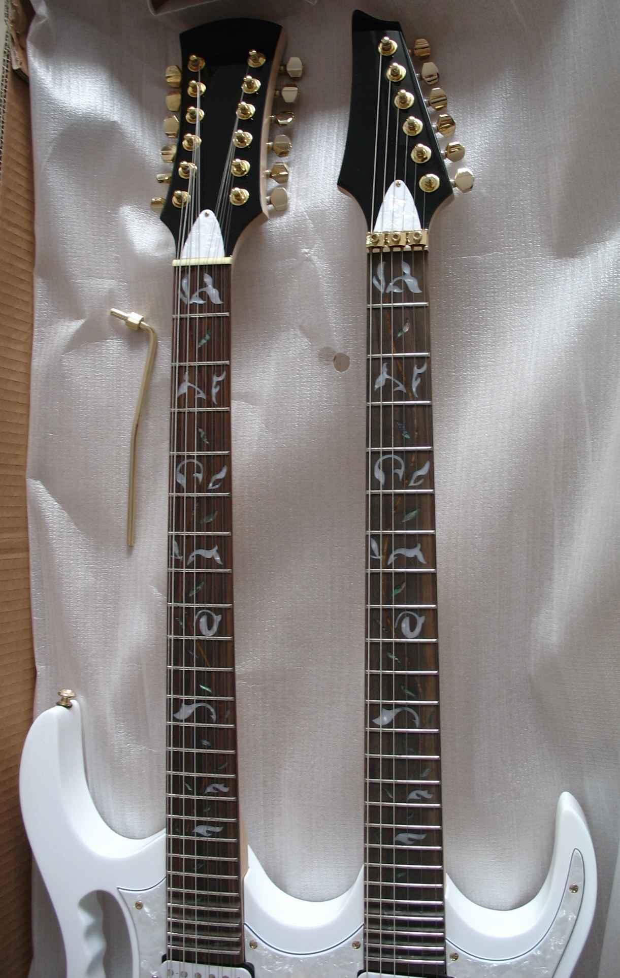 2020 Jingying Music Double Neck Style Electric Guitar and Bass Guitar 5