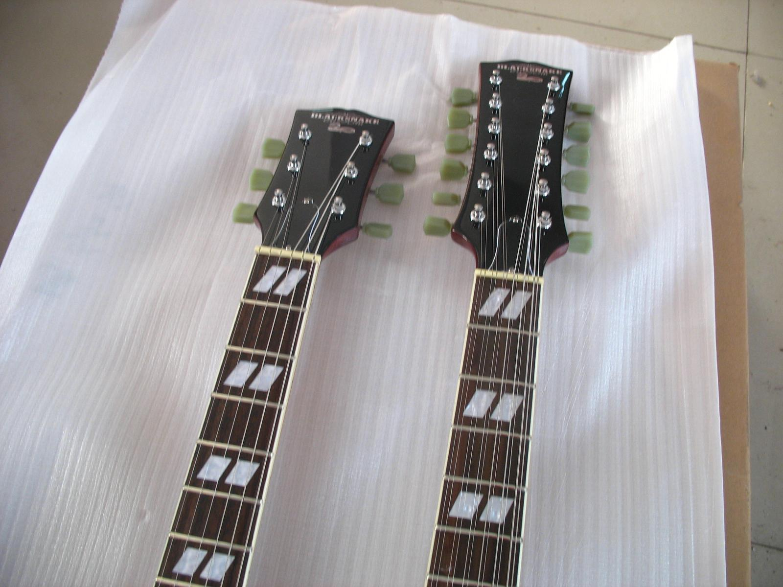 2020 Jingying Music Double Neck Style Electric Guitar and Bass Guitar 8