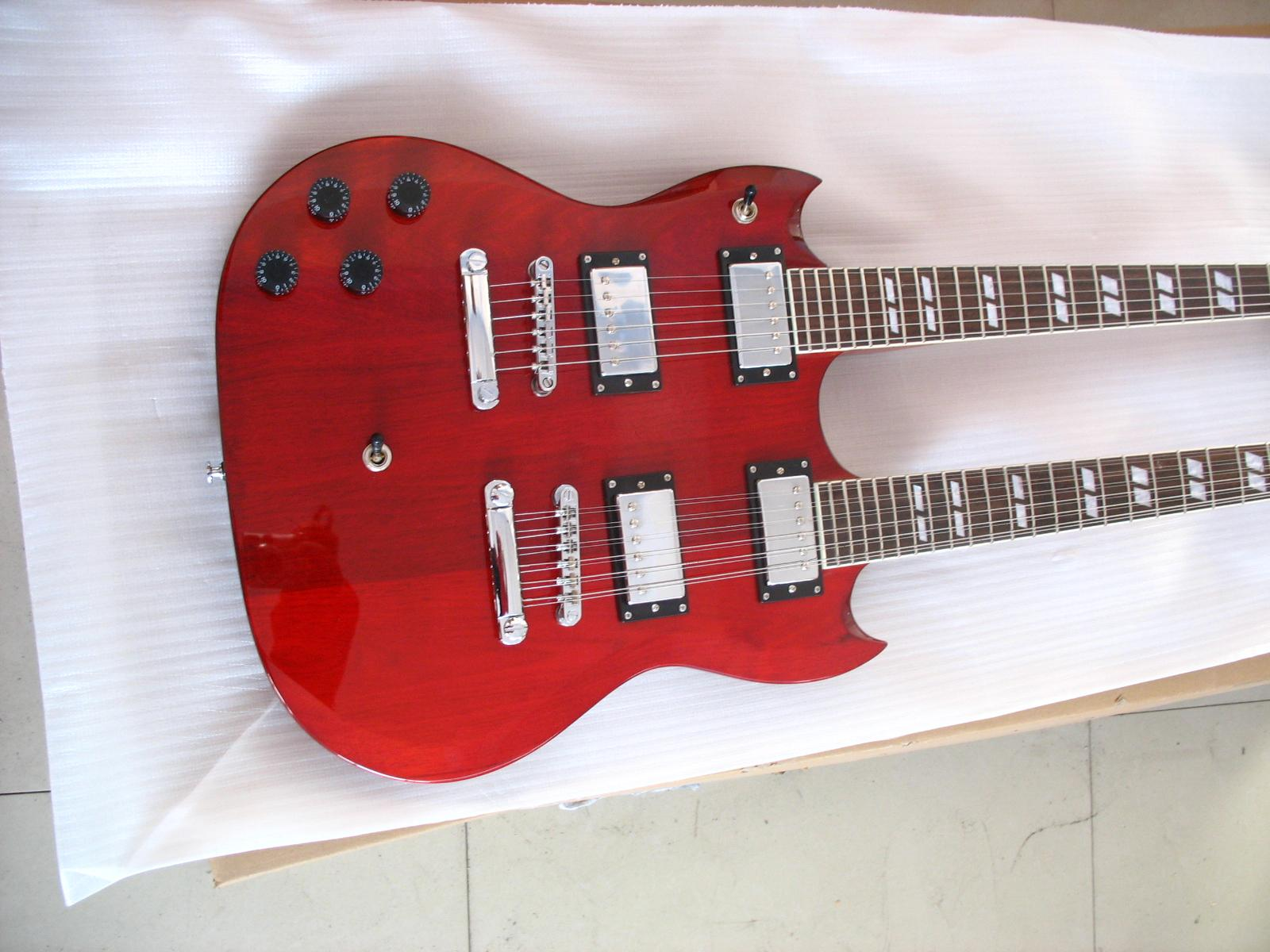 2020 Jingying Music Double Neck Style Electric Guitar and Bass Guitar 9