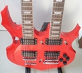 2020 Jingying Music Double Neck Style Electric Guitar and Bass Guitar 14